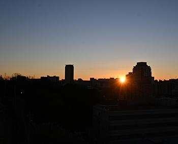 多摩センター地区の初日の出