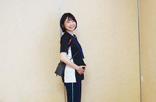 妊娠7か月の織田さんの写真です