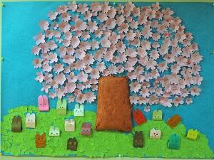 ほのぼのご利用者共同作品「満開の桜」